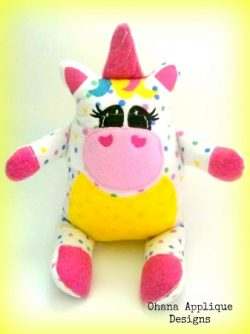 Skittles Unicorn Stuffie Embroidery