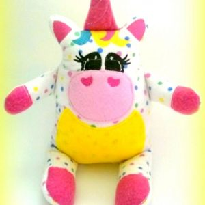 Unicorn Stuffie In The Hoop Designs Machine Embroidery Designs Stuffed Unicorn Pattern