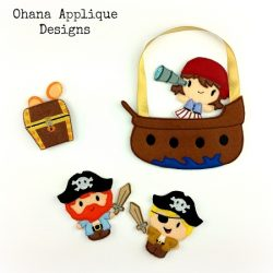 Complete Pirate SET Pattern In The Hoop Designs Embroidery Designs