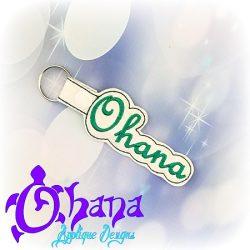 Ohana Snap tab Key Chain