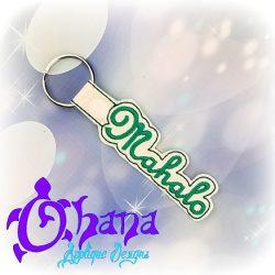 Mahalo Snap tab Key Chain