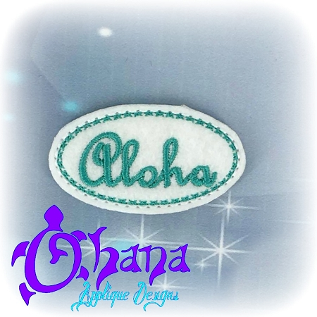 Hawaiian Sayings Felties: Ohana Feltie; Aloha Feltie; Mahalo Felties