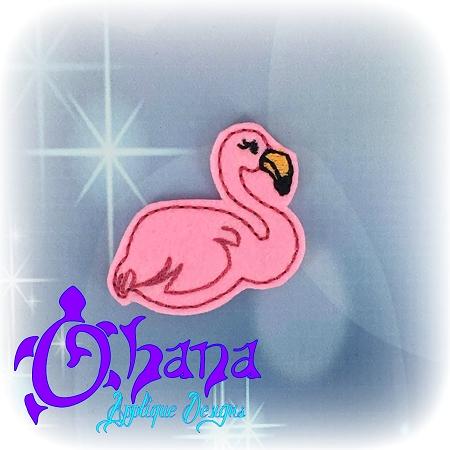 Flamingo Feltie