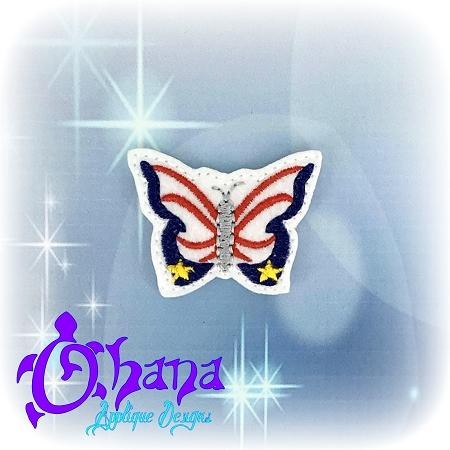 Patriotic Butterfly Feltie