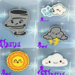 Kawaii Weather Feltie Set
