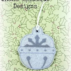 Snowflake Bell Christmas Ornament