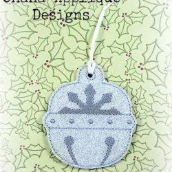 Snowflake Bell Christmas Ornament