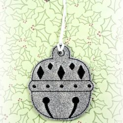 Diamond Bell Christmas Ornament