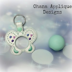 Butterfly  Sphere Lip Balm Holder key chain
