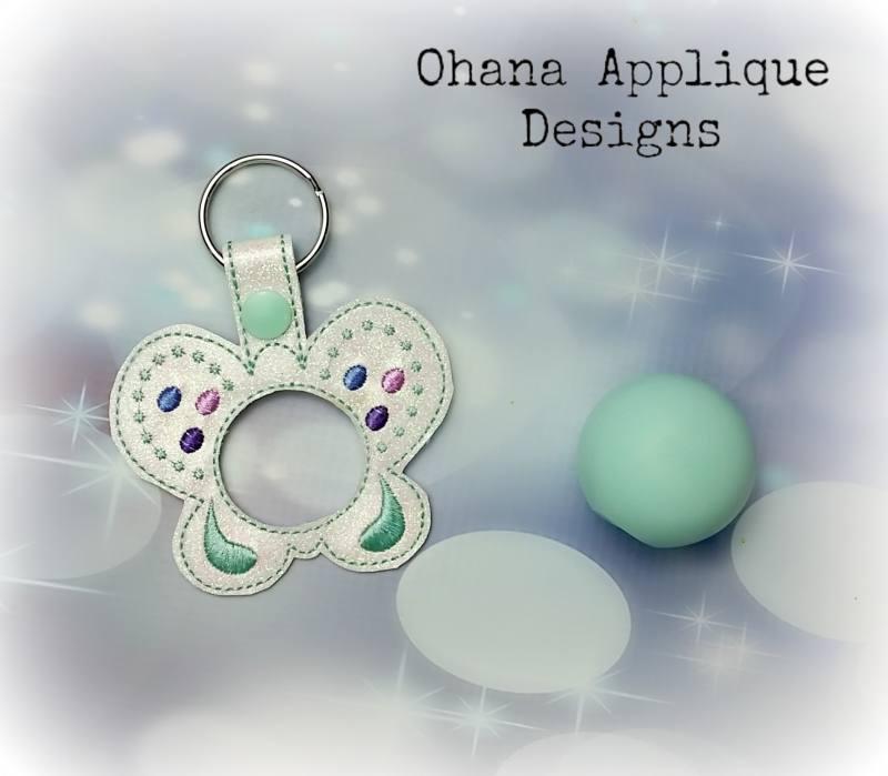 Butterfly  Sphere Lip Balm Holder key chain