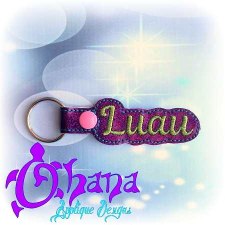 Luau Snap Tab Key Ring