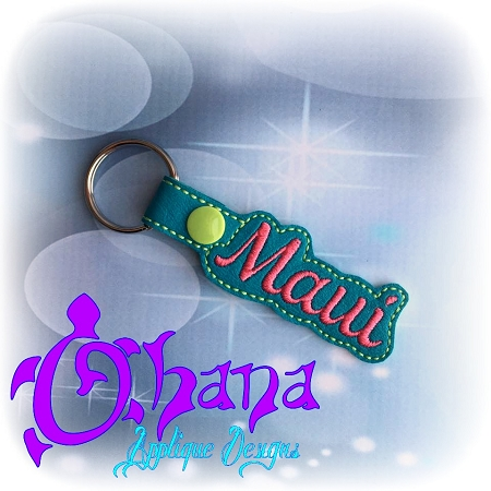 Maui Snap Tab Key Ring