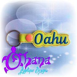 Oahu Snap Tab Key Ring