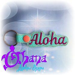 Aloha Snap Tab Key Ring