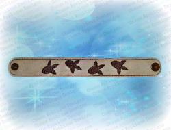 Dinosaur Tracks Bracelet / Wristlet
