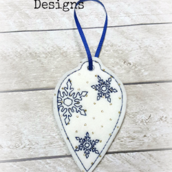 Snowflake Bulb Christmas Ornament