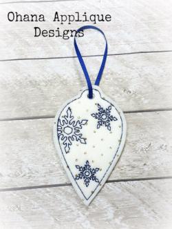 Snowflake Bulb Christmas Ornament