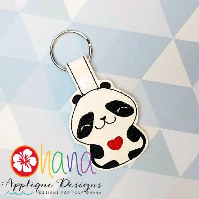 Panda holding Heart Snap Tab KC