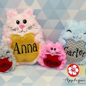 Heart Kittie Stuffie