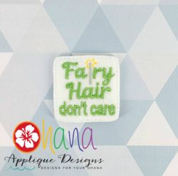 Fiary Hair Don't Care Feltie