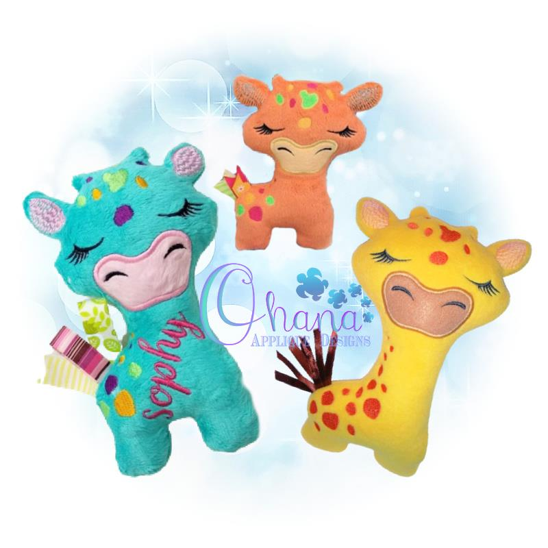 Rosie the Giraffe Stuffie Embroidery