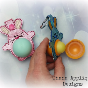 Bunny Sphere Lip Balm Holder snaptab
