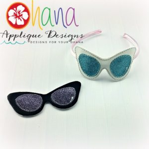 50's Cateye shades Headband Cover
