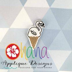 Swan Ice cream Cone