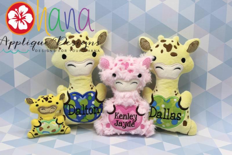 Ginger Giraffe Stuffie Embroidery