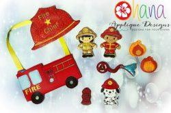 Firefighter Finger Puppet SET