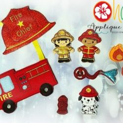 Firefighter Finger Puppet SET