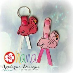 Leggy Flamingo Snap Tab