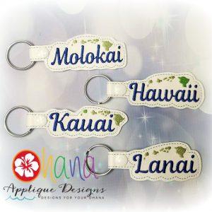 Hawaii, Kauai, Lanai, Molokai Snap Tab KC