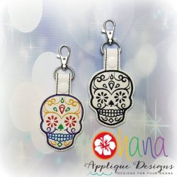Sugar Skull (flower eyes) Snap Tab