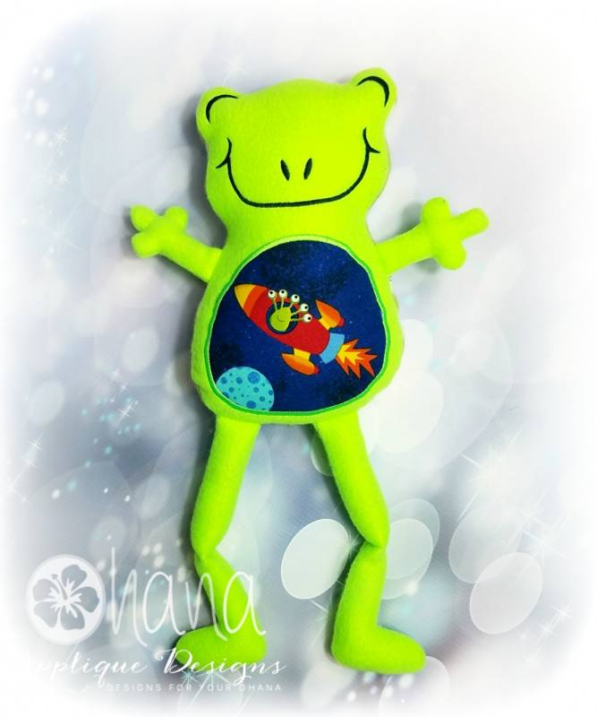 Jeremiah the Frog Stuffie Embroidery