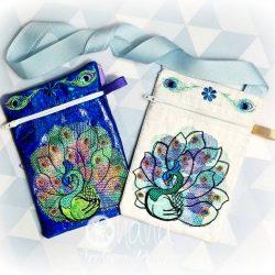 Peacock Zipper Bag