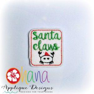 Santa Claws Feltie