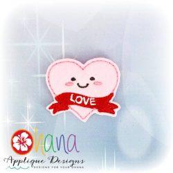 Heart Love Feltie