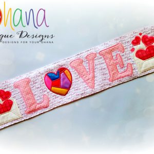Scrappy Heart Love Table Runner
