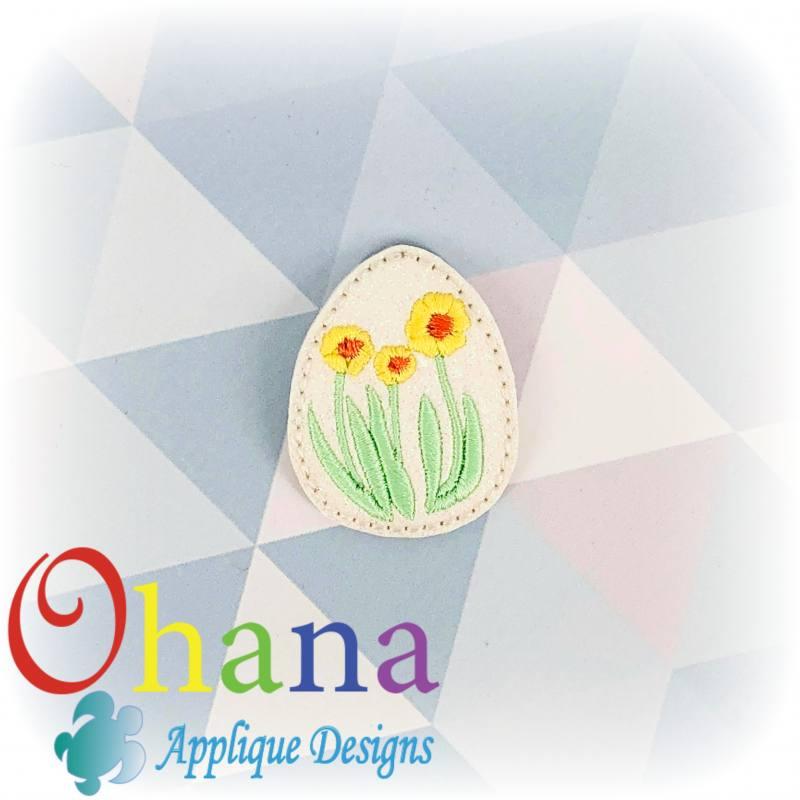 Daffodil Flower Egg Feltie