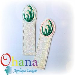 Spring Snowflake Flower Egg Bookmark