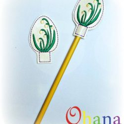 Spring Snowflake Egg Pencil Topper (PT)