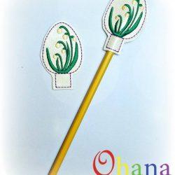 Spring Snowflake Egg Pencil Topper (PT)
