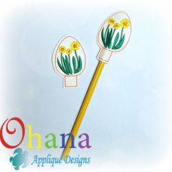 Daffodils Egg Pencil Topper (PT)