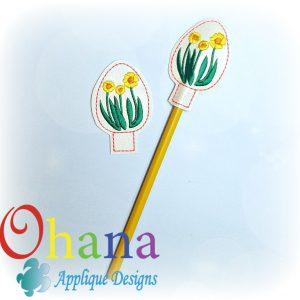Daffodils Egg Pencil Topper (PT)