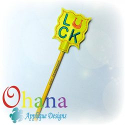 Luck with a capital Horse Shoe U Pencil Topper