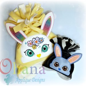 Floral Bunny Peeker Applique