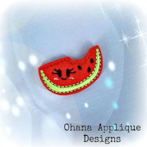 Kawaii Watermelon Feltie