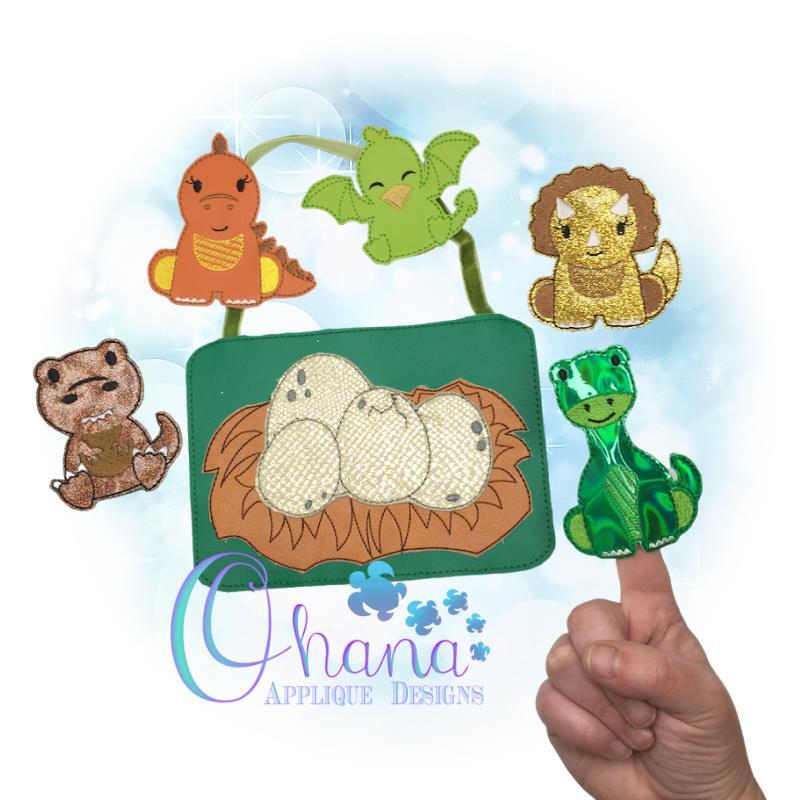 Dino-Might Dinosaur Finger Puppets