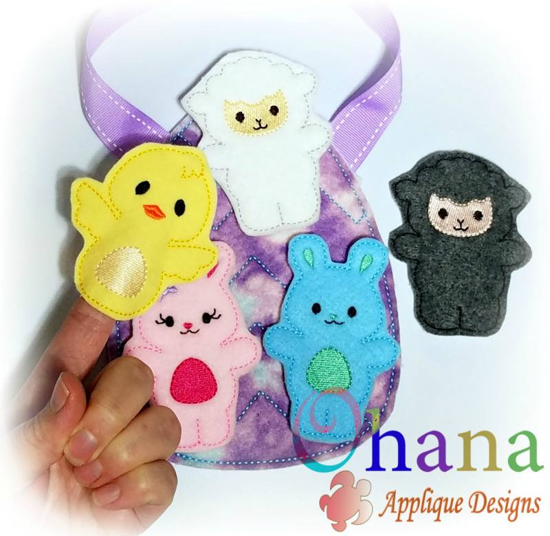 Spring Animal Finger Puppets
